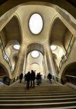 Binnenland van het Louvre Stock Fotografie