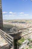 Binnenland van het middeleeuwse kasteel van de stad van Consuegra in Tole royalty-vrije stock fotografie