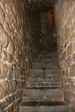 Binnenland van het middeleeuwse kasteel van lavaux-Sainte-Anne, België Stock Foto's