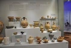 Binnenland van het Minoan het Archeologische Museum van Heraklion in het eiland van Kreta royalty-vrije stock foto