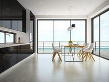 Binnenland van het moderne ontwerpruimte 3D teruggeven Royalty-vrije Stock Fotografie