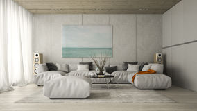 Binnenland van het moderne ontwerpruimte 3D teruggeven Royalty-vrije Stock Afbeelding