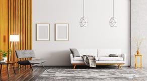 Binnenland van het moderne woonkamer 3d teruggeven vector illustratie