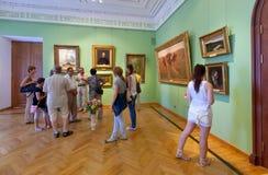 Binnenland van het Museum van de Kunst in Yaroslavl. Rusland stock foto's