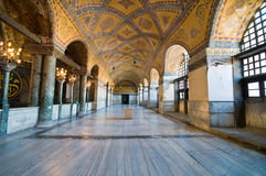Binnenland van het museum van Hagia Sophia in Istanboel. Royalty-vrije Stock Foto's