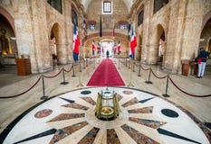 Binnenland van het Nationale Pantheon in Santo Domingo Stock Foto's