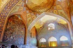 Binnenland van het Paleis van Chehel Sotoun Isphahan, Iran royalty-vrije stock foto's