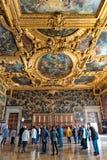 Binnenland van het Paleis van de Doge in Venetië, Italië stock afbeelding