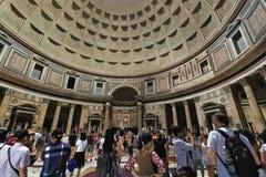 Binnenland van het Pantheon in Rome Royalty-vrije Stock Afbeelding