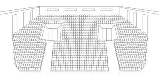 Binnenland van het plan van de bioskoopzaal Royalty-vrije Stock Afbeeldingen