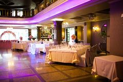Binnenland van het restaurant Royalty-vrije Stock Foto