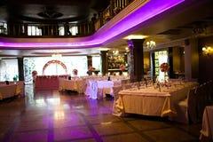 Binnenland van het restaurant Stock Foto's