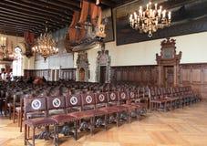 Binnenland van het stadhuis van Bremen, Duitsland Stock Fotografie