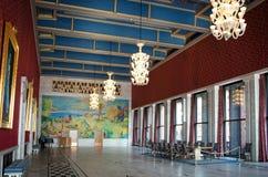 Binnenland van het stadhuis van Oslo, Noorwegen Stock Foto's