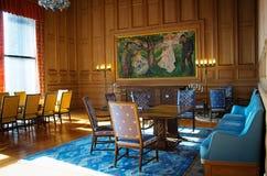 Binnenland van het stadhuis van Oslo, Noorwegen Royalty-vrije Stock Afbeelding