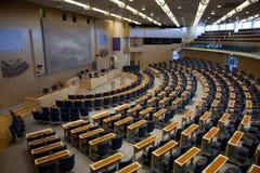 Binnenland van het Zweedse parlement in Stockholm stock foto