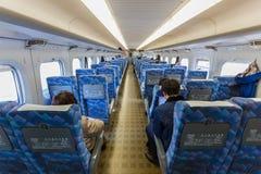 Binnenland van Hikari Shinkansen Royalty-vrije Stock Fotografie