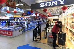 Binnenland van HK-Markt één van de grootste wandelgalerij die elektronische apparaten in Shenzhen verkopen Royalty-vrije Stock Foto