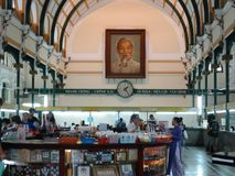 Binnenland van Ho Chi Minh City-Post Office Royalty-vrije Stock Afbeeldingen