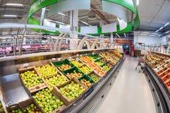 Binnenland van hypermarket Karusel Royalty-vrije Stock Fotografie