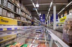 Binnenland van hypermarket METRO Stock Fotografie