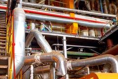 Binnenland van industriële fabriek Royalty-vrije Stock Foto's