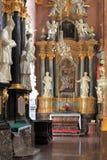 Binnenland van Jasna Gora Pauline Order Monastery en het heiligdom in Czestochowa, Polen Royalty-vrije Stock Foto