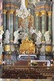 Binnenland van Jasna Gora Pauline Order Monastery en het heiligdom in Czestochowa, Polen Royalty-vrije Stock Foto's