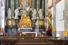 Binnenland van Jasna Gora Pauline Order Monastery en het heiligdom in Czestochowa, Polen Stock Foto's