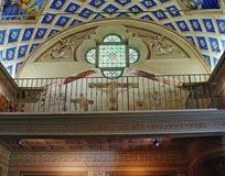 Binnenland van kapel Heilige Bernandin (andere naamkapel van witte penitents) op de Rostan-straat Antibes Royalty-vrije Stock Afbeeldingen