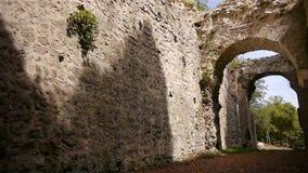 Binnenland van kasteel Ganne in Normandië, PAN stock footage
