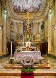 Binnenland van katholieke kerk. Royalty-vrije Stock Afbeelding
