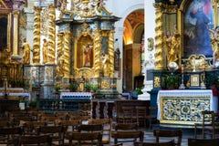 Binnenland van katholieke kerk Royalty-vrije Stock Foto