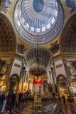 Binnenland van Kazan Kathedraal, St. Petersburg, Rusland Stock Foto's