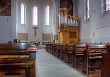 Binnenland van kerk Stock Fotografie