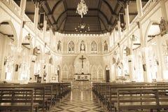 Binnenland van Kerk - Stock Afbeelding