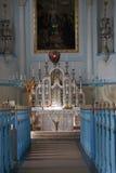 Binnenland van kerk van St. Elizabeth Stock Afbeelding