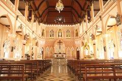 Binnenland van Kerk - Voorraadbeeld Stock Fotografie