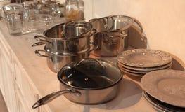 Binnenland van keuken Stock Foto's