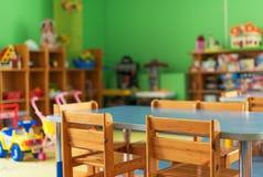 Binnenland van kleuterschool Stock Foto