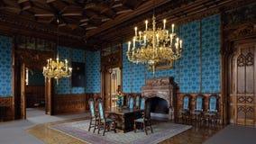 Binnenland van Lednice-kasteel, Tsjechische republiek Stock Fotografie