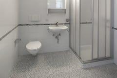 Binnenland van lege flat, badkamers stock fotografie