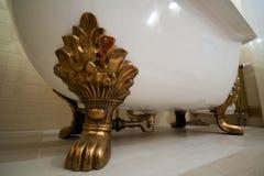 Binnenland van luxe uitstekende badkamers Stock Afbeelding