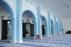 Binnenland van Masjid Jamek Dato Bentara Luar in Batu Pahat, Johor, Maleisië Stock Foto's