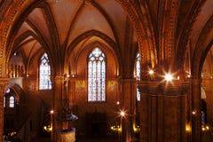 Binnenland van Matthias Church, Boedapest Stock Afbeeldingen