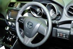 Binnenland van Mazda-autovertoning tijdens Singapore Motorshow 2016 Stock Foto's