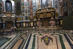 Binnenland van Medici-kapel, Florence, Italië stock afbeelding