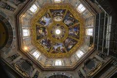 Binnenland van Medici-kapel, Florence, Italië stock afbeeldingen