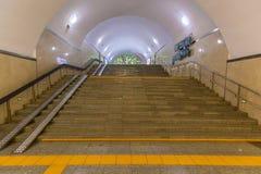 Binnenland van metro post Alma Ata royalty-vrije stock afbeelding