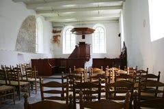 Binnenland van middeleeuwse kerk royalty-vrije stock afbeeldingen